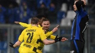Europa League, avanti in dueAtalanta beffata dal DortmundMilan, tutto facile: è agli ottavi