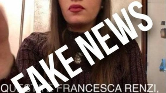 Fake News, cugina di Matteo Renzi assunta in Senato