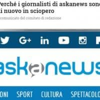 """Askanews ancora in sciopero: """"L'azienda vuole tagli per due terzi della redazione"""""""