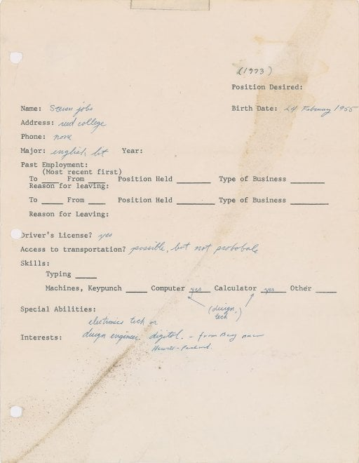 Scritti e autografi di Steve Jobs, i documenti all'asta