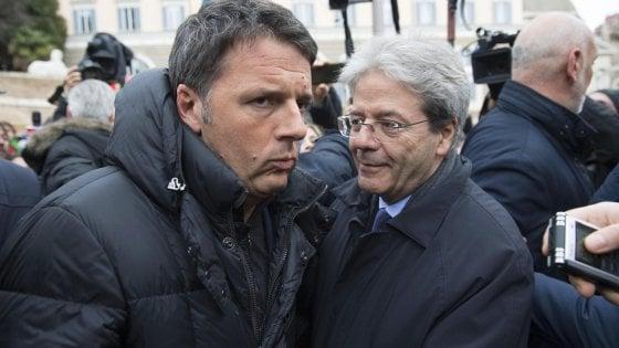 """Veltroni con Gentiloni: """"Berlusconi resta avversario. Senza maggioranza si torna al voto"""""""