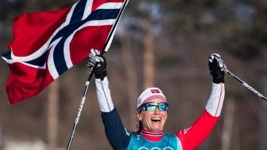 Bjoergen domina la 30 km Medagliere alla Norvegia