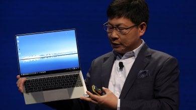 """Huawei è portatile, ecco il MateBook X Pro. """"L'ultra leggero più potente al mondo""""   Foto"""