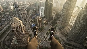 Questa fotografia vi fa venire le vertigini?