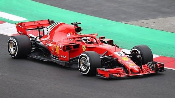 F1, secondo giorno di test a Barcellona: domina Vettel all'esordio con la nuova SF71H