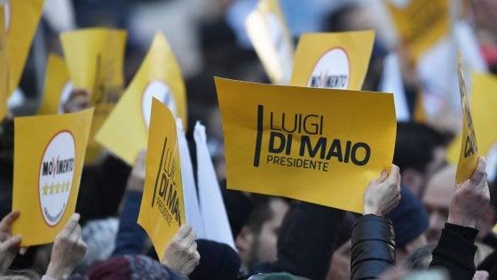 """M5s, Di Maio: """"Per i sondaggi noi a un passo da vittoria, è finita l'era dell'opposizione"""""""