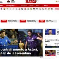 Morto Astori, il capitano della Fiorentina: la notizia sui siti stranieri