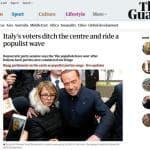 Elezioni 2018 in Italia, la notizia sui siti dei quotidiani internazionali