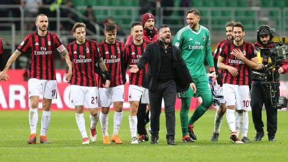 Europa League in salita per Gattuso: Milan-Arsenal 0-2. Pari Lazio
