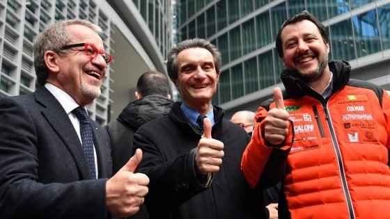 """Berlusconi: """"Resto regista del centrodestra"""". Salvini: """"No ad accordi partitici, aperti a sinistra che guarda alla Lega"""""""