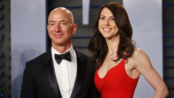 Jeff Bezos agli Oscar con la moglie MacKenzie