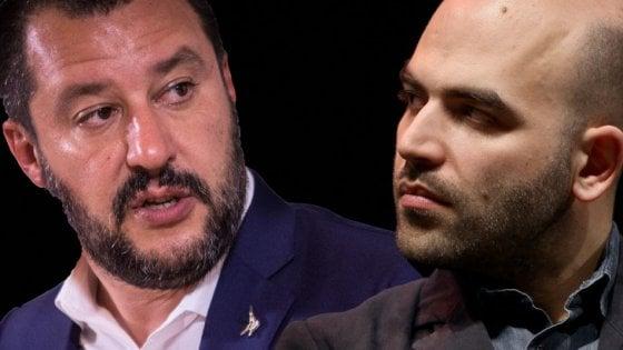 Salvini brinda agli avversari e Saviano cita Gomorra: