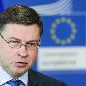 Dombrovskis all'Italia: Crescita ancora sotto la media Ue