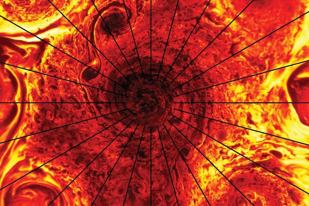 I vortici ai poli di Giove, le straordinarie immagini di Juno
