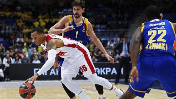 Basket, Eurolega: Milano vince ancora, Khimki ko a Mosca