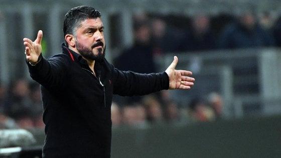 """Milan, Gattuso: """"Abbiamo pagato l'inesperienza"""""""