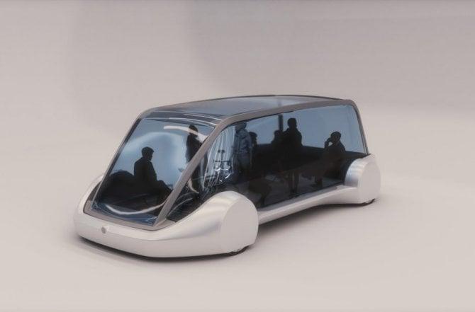 Il bus del futuro secondo Elon Musk
