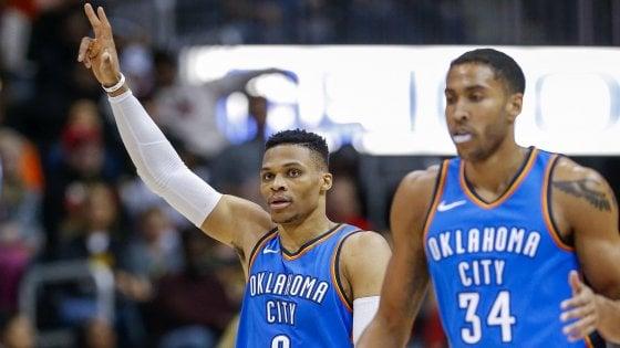 Basket, Nba: Westbrook e LeBron da record, Belinelli si inchina a Indiana