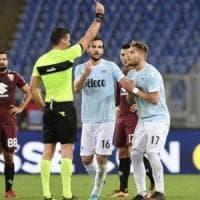Lazio, 11 tifosi contro il Var: citati direttori di gara per l'espulsione