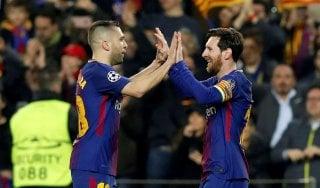 Champions, Messi fa 100. Chelsea eliminato, al Camp Nou finisce 3-0. Anche il Bayern ai quarti