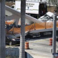 Miami, ponte pedonale crolla su strada a sei corsie e schiaccia auto: quattro morti....