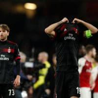Europa League, Arsenal-Milan 3-1: Calhanoglu non basta, rossoneri eliminati