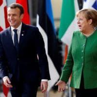 "Ue, Macron riceve Merkel: ""Voto italiano ha scosso l'Unione"""