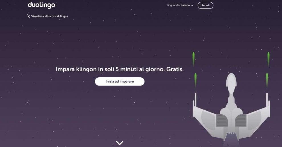 Su Duolingo a lezione di Klingon