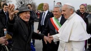 Francesco con Alberto, 98enne che conobbe San Pio