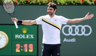 Tennis, Indian Wells: Federer batte Coric e vola in finale. Affronterà Del Potro