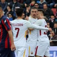 Crotone-Roma 0-2, El Shaarawy e Nainggolan blindano il terzo posto