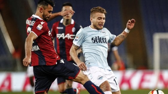 Lazio-Bologna 1-1: frenata Champions per i biancocelesti