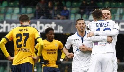 Tripletta di Ilicic, gioia Gomez   Gol   Atalanta 'europea': 0-5 al Verona