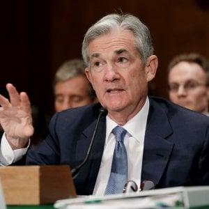 f334dae7df Jerome Powell si prepara alla prima conferenza stampa dopo la riunione  della Fed.In basso