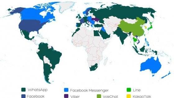 Mondo social app, WhatsApp batte Facebook. Ecco le più usate