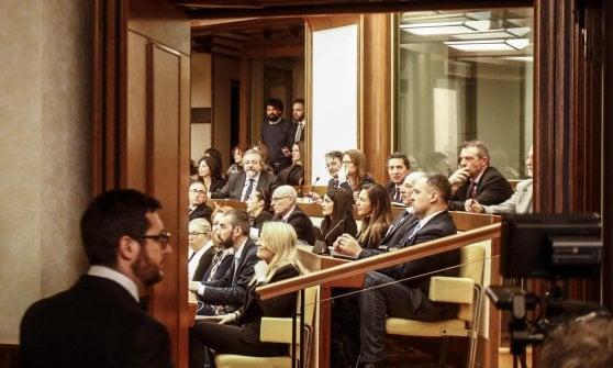"""M5S, Di Maio incontra i neoeletti al Senato: """"Dei ministri parleremo con il capo dello Stato"""""""