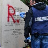 Roma, scritta BR sulla lapide che ricorda il sequestro Moro