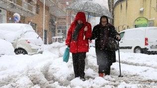 Sud e Sardegna sotto la neve,Potenza chiude le scuole meteo