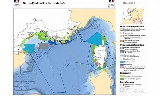 La cartina corretta pubblicata il 20 marzo 2018, dal sito del ministero dell'Ecologia francese