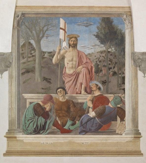 La Resurrezione torna a splendere: il capolavoro di Piero della Francesca prima e dopo il restauro