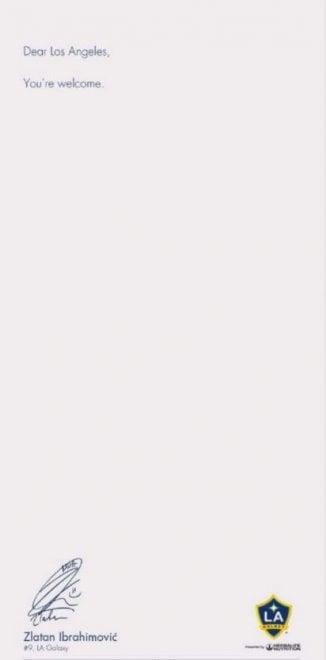 Ibrahimovic compra pagina sul Los Angeles Times per annunciare l'arrivo ai Galaxy