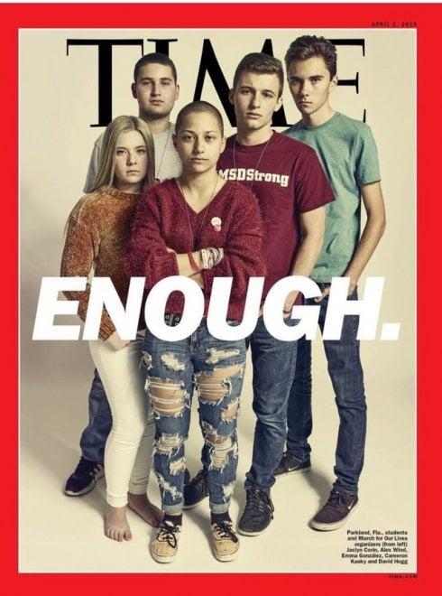Usa, gli studenti sopravvissuti alla strage di Parkland sulla copertina del Time