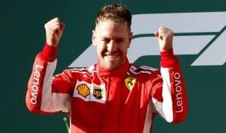 """F1, Gp d'Australia. Vettel: """"Strategia perfetta"""". Marchionne: """"Che emozione"""""""