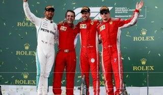 F1, a Melbourne è trionfo Ferrari:  vince Vettel, terzo Raikkonen