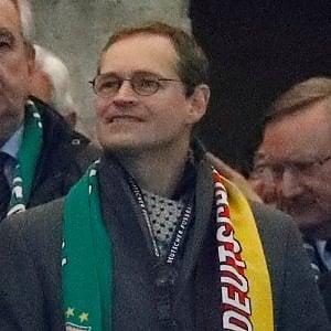 Michael Mueller, sindaco di Berlino, allo stadio durante l'amichevole Germania-Brasile