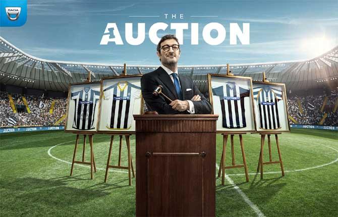 """""""Dacia The Auction"""", la prima partita che è anche un'asta"""