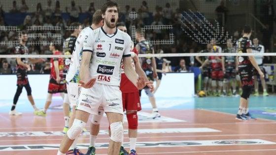 Volley, Modena e Trento vincono gara 2: semifinali scudetto in parità