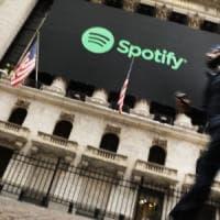 Spotify chiude la giornata di debutto a 149 dollari, in calo sull'ultima indicazione