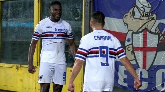 Atalanta-Sampdoria 1-2, Caprari e Zapata firmano il rilancio blucerchiato