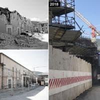 Terremoto in Abruzzo, le foto a confronto: L'Aquila 2009 - 2018